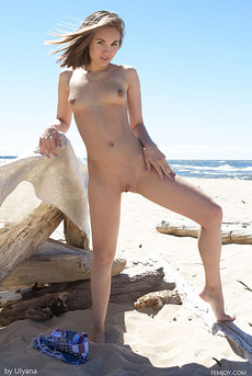 Brunette Teen Selena B By The Sea 17