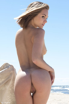 Brunette Teen Selena B By The Sea 19