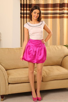 Abigail In Pink Silk Skirt 00