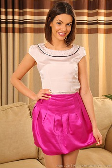 Abigail In Pink Silk Skirt 01