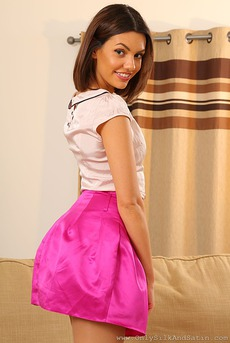 Abigail In Pink Silk Skirt 02