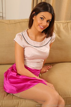 Abigail In Pink Silk Skirt 03