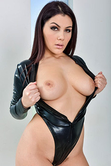 Valentina In Black Latex Bodysuit