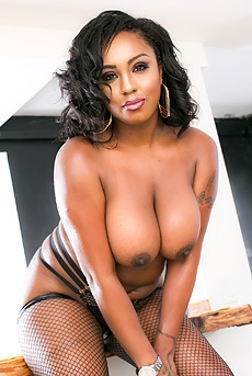 Chubby Ebony Babe Layton Benton Gets Nailed