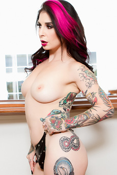 Joanna Angel Strips Off Her Sexy Black Lingerie